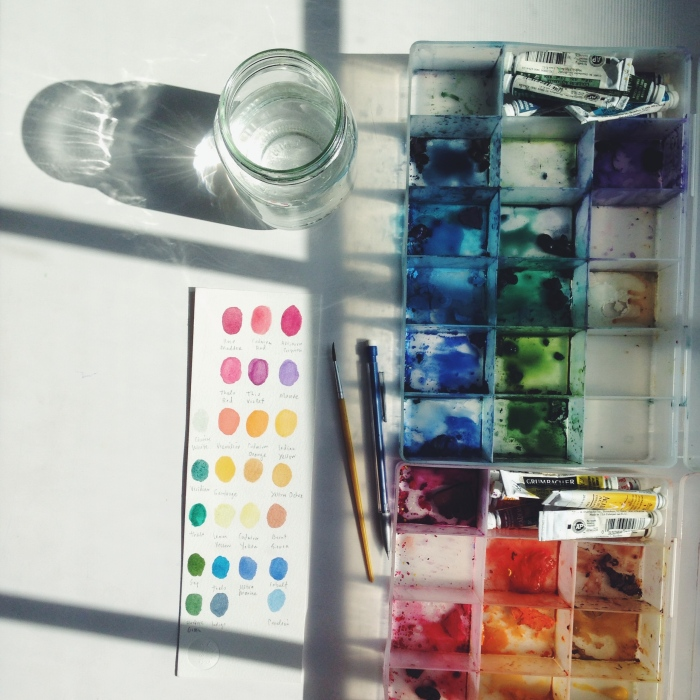 watercolors | year of creative habits