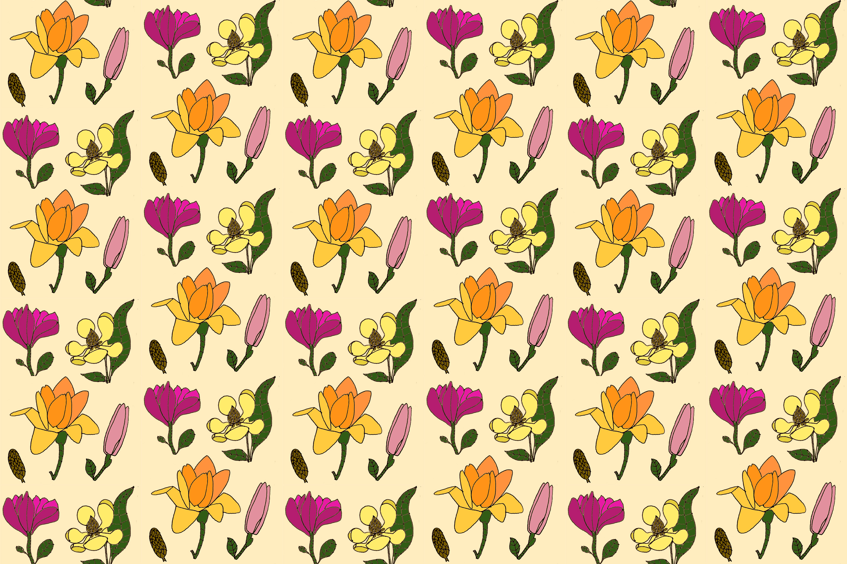 magnolia pattern | year of creative habits