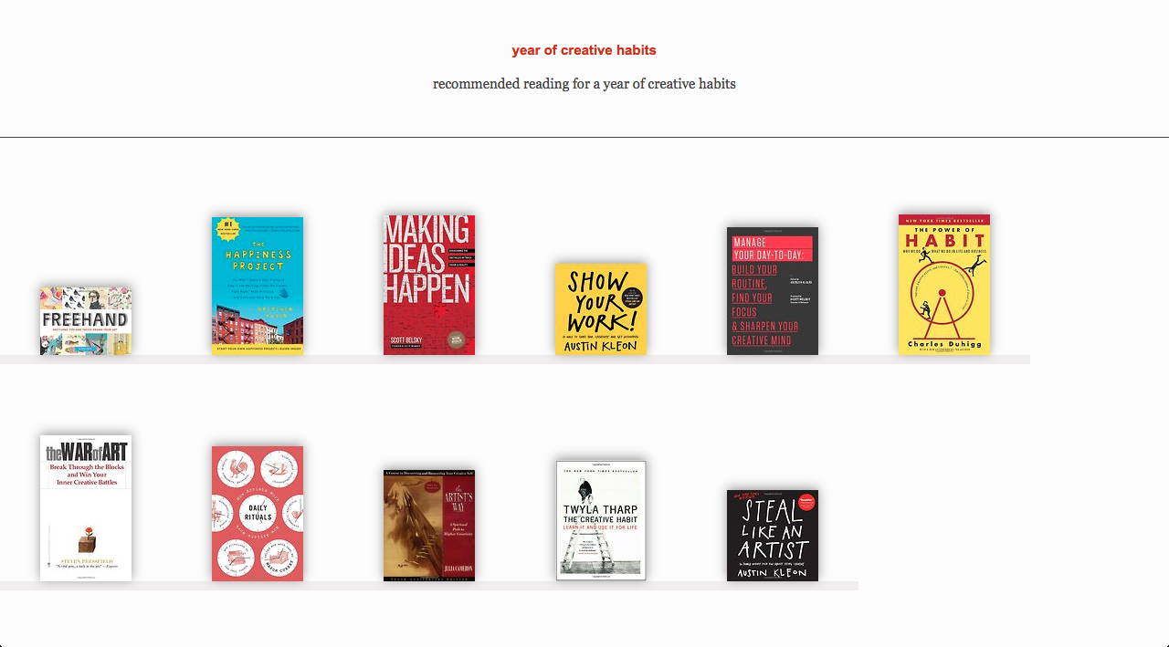 recommended reading | year of creative habits