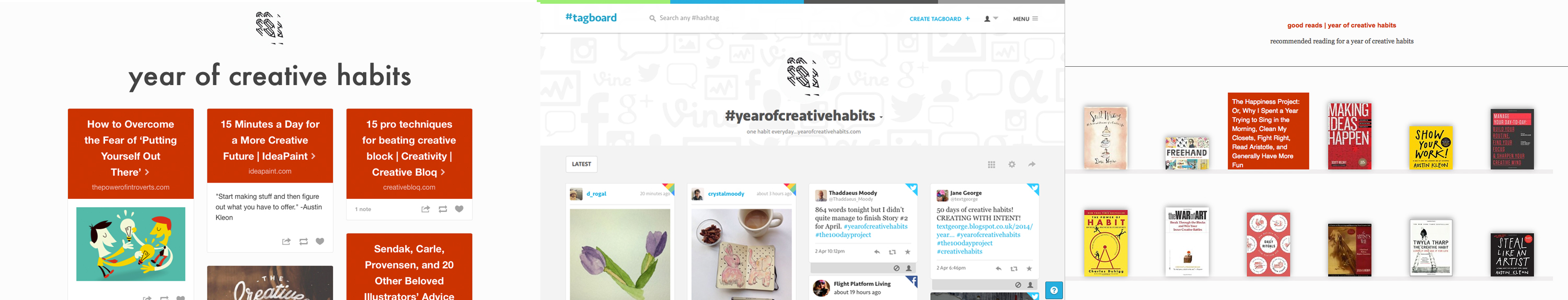 check out | year of creative habits